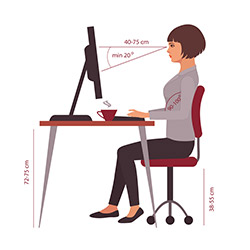 Porper Posture When Seated at Computer Desk